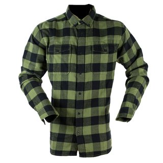Classic Checked Shirt Green/Black 5XL